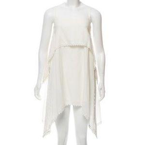 Walter Baker crochet-trimmed white dress